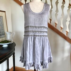 Entro | Ruffles & Lace Tunic Dress